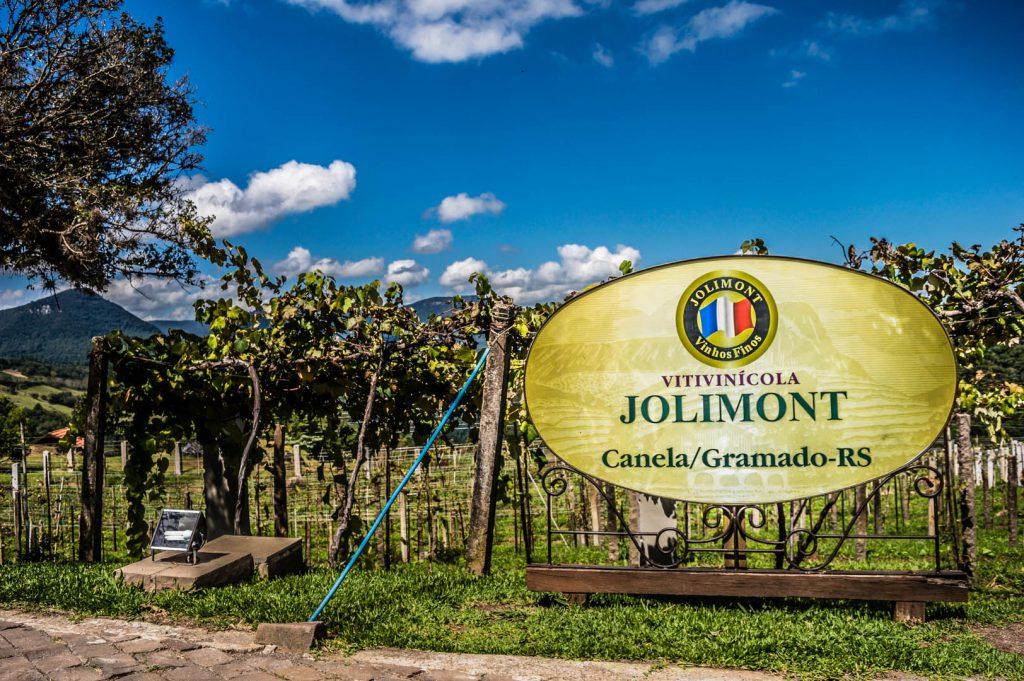 placa da vinícola Jolimont