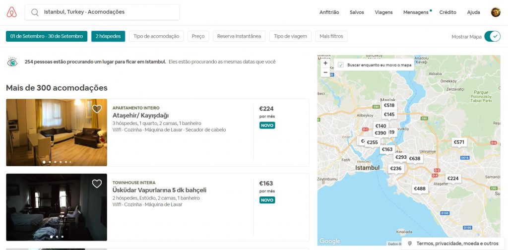 website airbnb